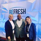 Natalia Karayaneva at Refresh Expo Colorado with Tyrone Adams and Kate Purcell